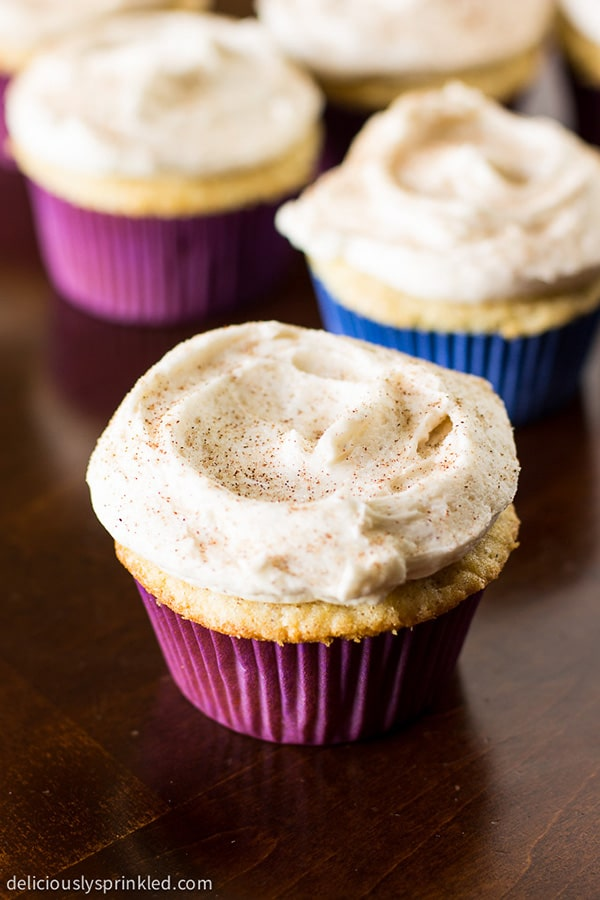 Homemade Snickerdoodle Cupcakes