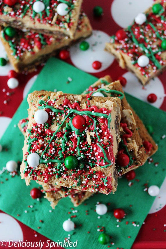 Christmas Peanut Butter Bars