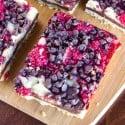 Dark Chocolate Raspberry Pie Bars
