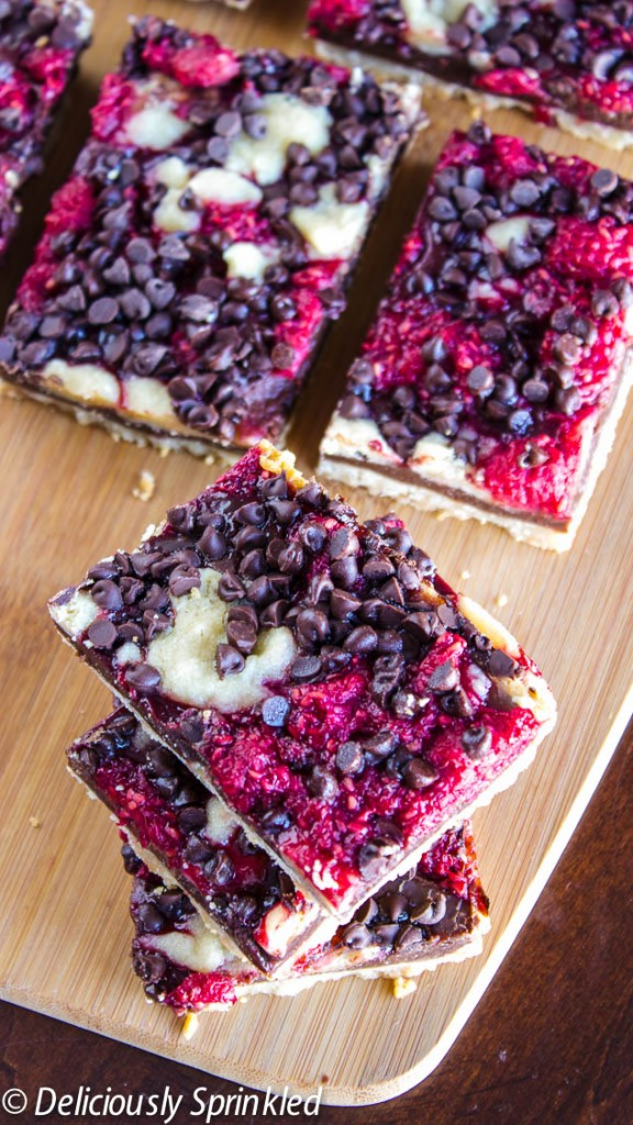 Dark Chocolate Raspberry Pie Bars Deliciously Sprinkled