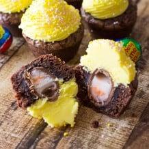 Cadbury Egg Brownie Bites-321
