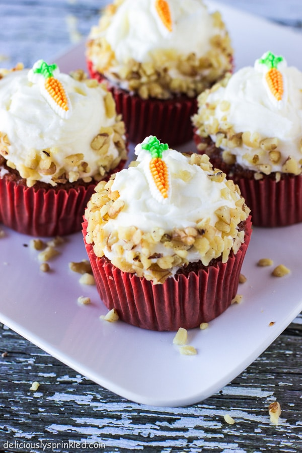 Carrot cake cupcake recipe without nuts