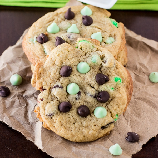 Mint Chocolate Chip Cookies-158