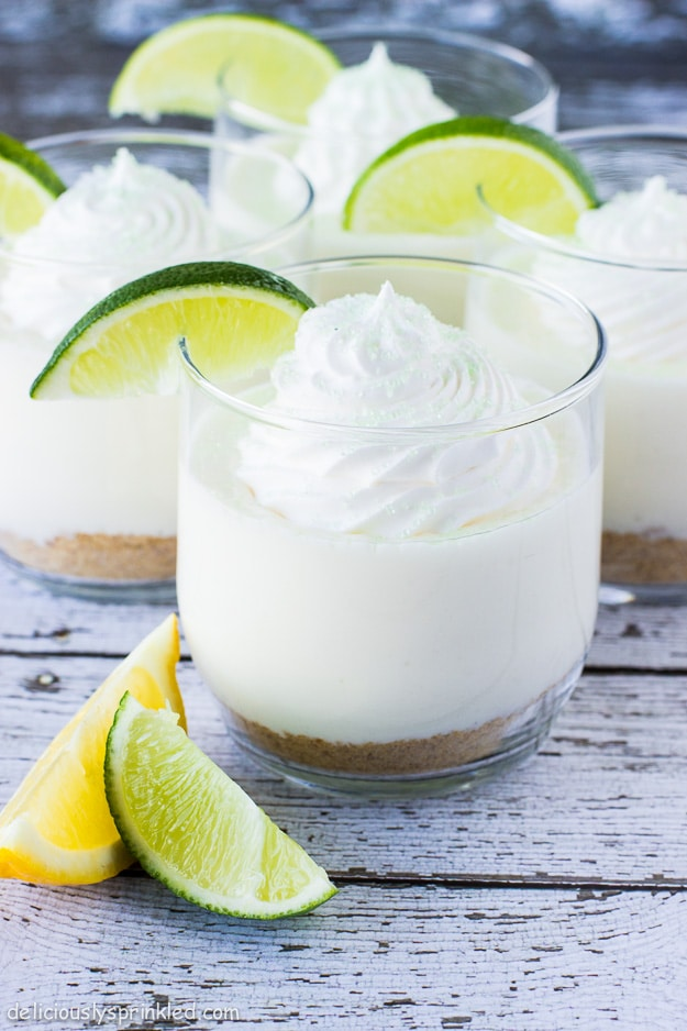 Lime Cheesecake in a glass recipe