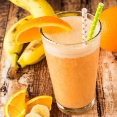 Orange Banana Smoothie-123
