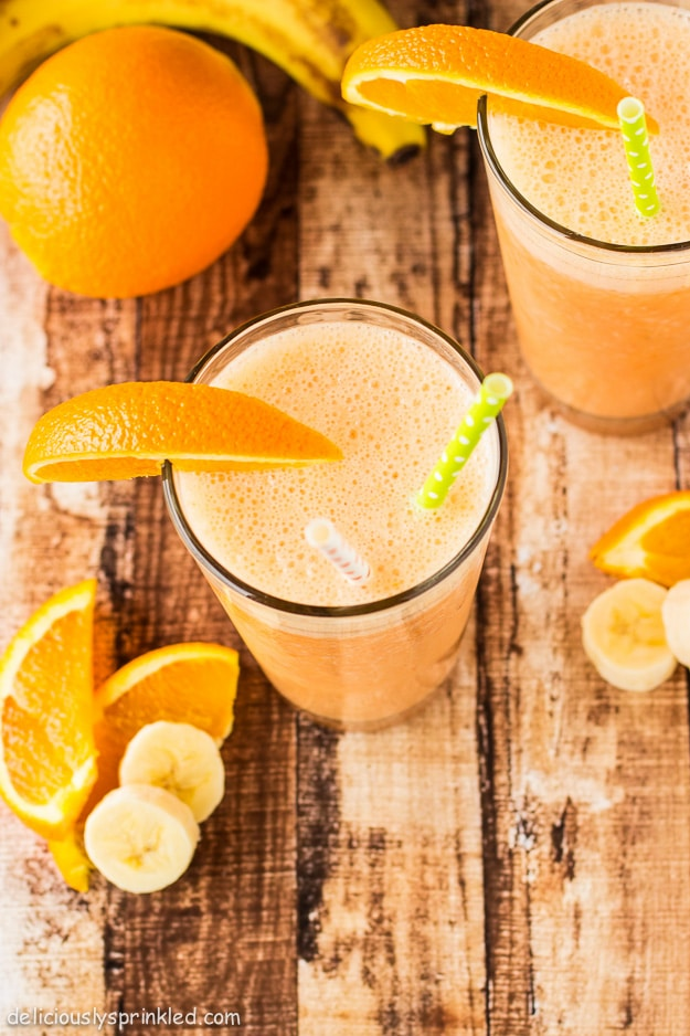 Orange Banana Smoothie Recipe by Deliciously Sprinkled