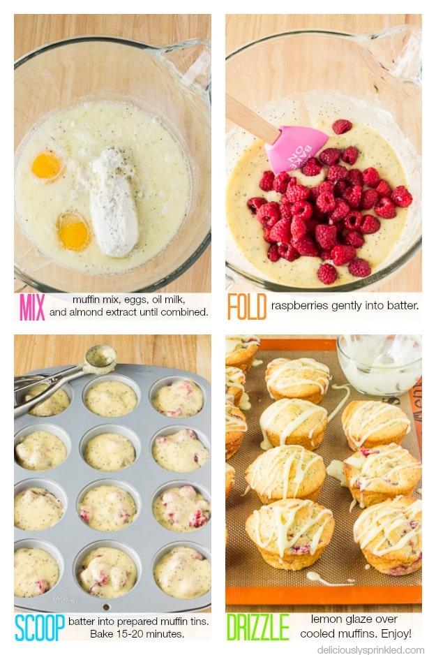 Raspberry Lemon Poppy Seed Muffins Recipe