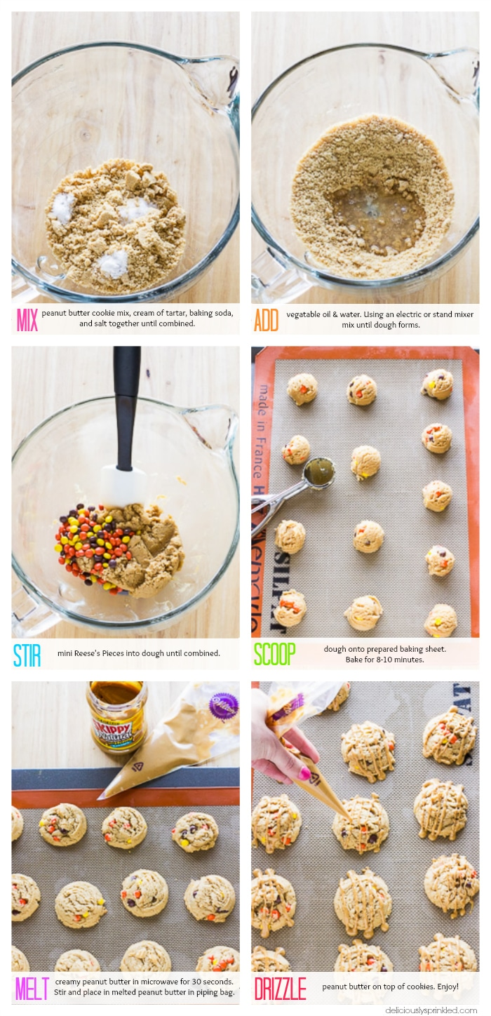 Step By Step Diagram Template: Triple Peanut Butter Cookies- Deliciously Sprinkled