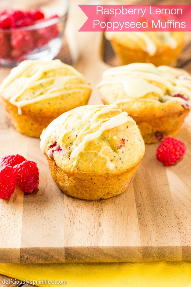 raspberry lemon poppyseed muffins