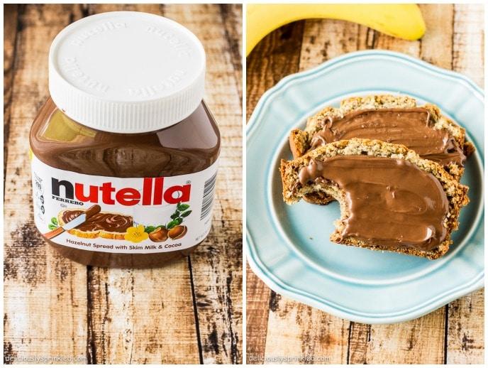 Nutella, Banana Bread, Recipe