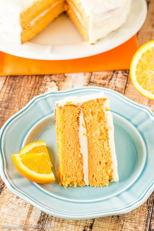 Orange Cream Cake Deliciously Sprinkled