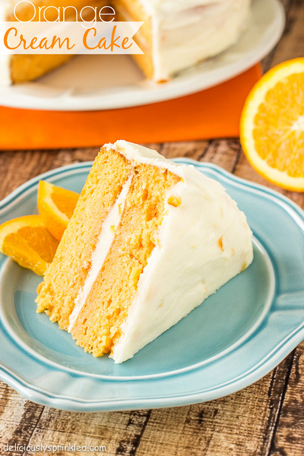 Orange Cream Cake | Deliciously Sprinkled