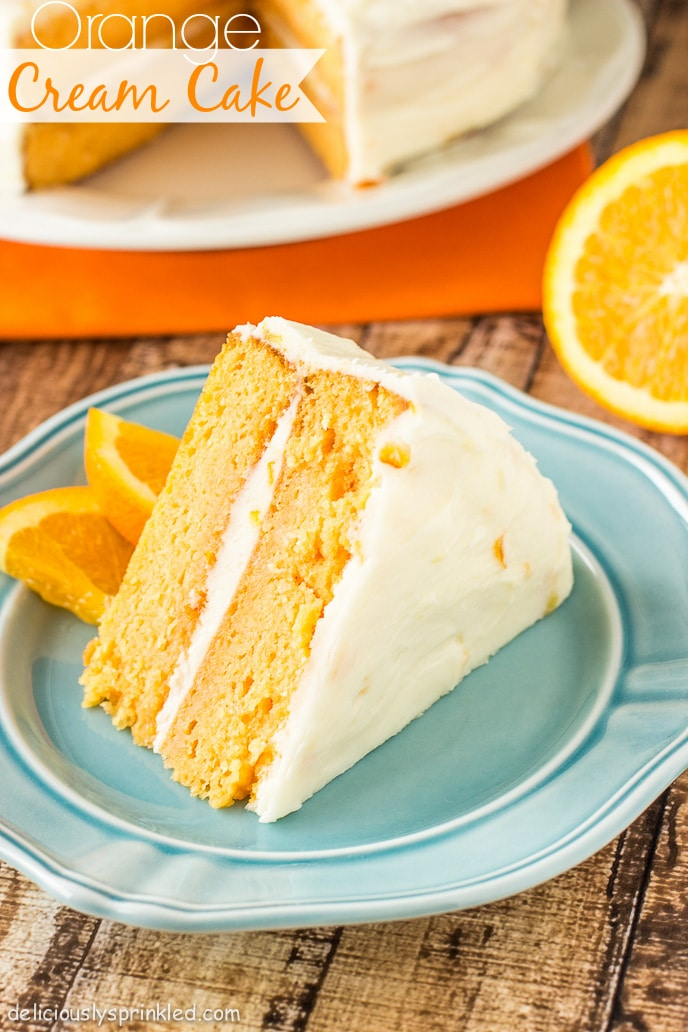 ... with this super moist, delicious and easy to make Orange Cream Cake