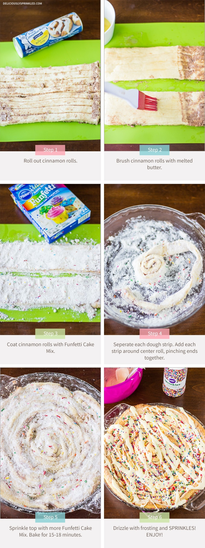 Cinnamon Roll Funfetti Cake Recipe