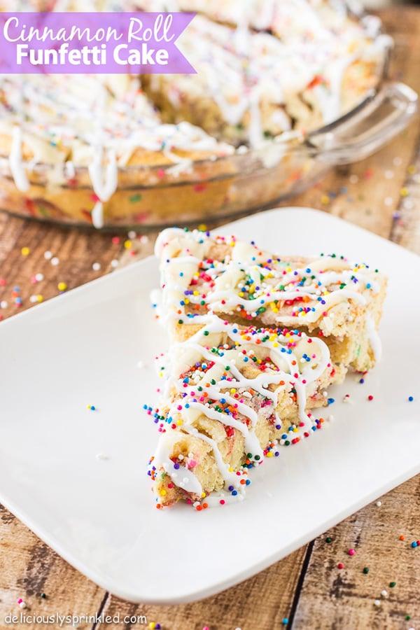 Cinnamon Roll Funfetti Cake Recipe