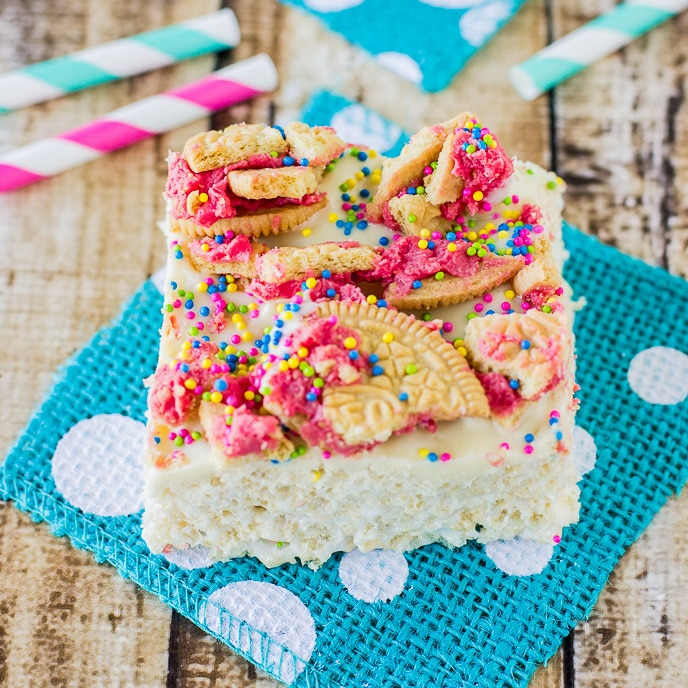 Fruit Punch Rice Krispie Treats