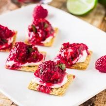 Raspberry Salsa Bites