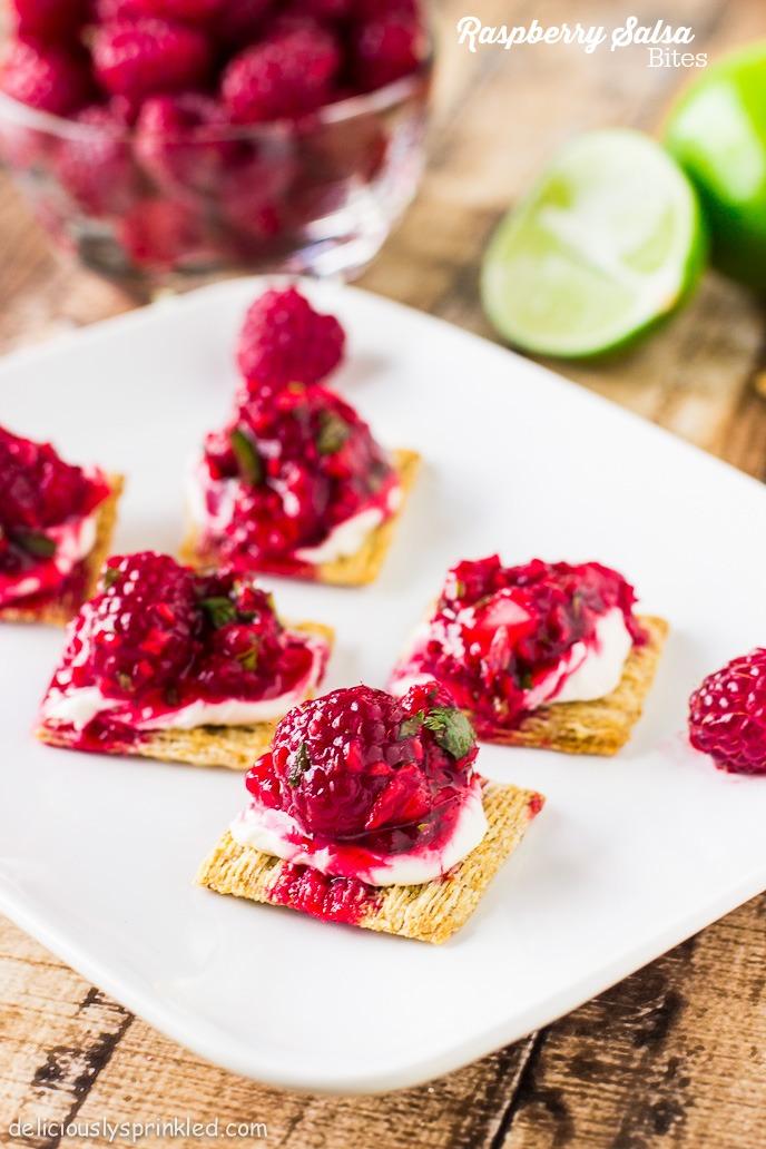 Raspberry Salsa Bites, Triscuit, Snackoff, #TriscuitSnackoff