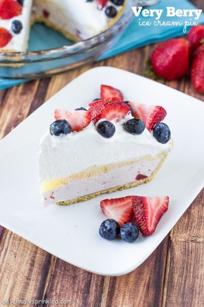Strawberry Ice Cream Pie, #walmartproduce