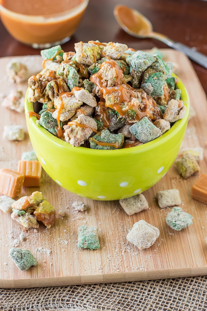 Caramel Apple Puppy Chow Recipe
