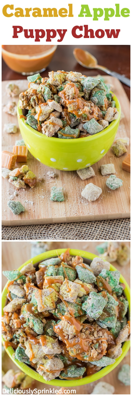 Caramel Apple Puppy Chow Recipe