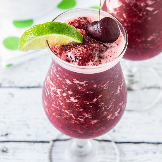 Skinny Cherry Limeade Slushies