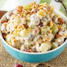 Pecan Crunch Grape Salad blog