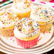 Homemade Vanilla Cupcakes with Vanilla Buttercream Frosting