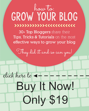 How to Grow Your Blog E-Book - BUY NOW!