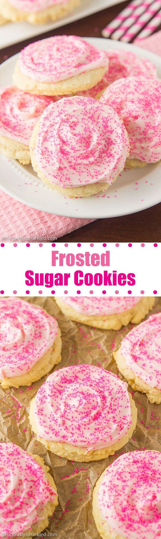 THE BEST FROSTED SUGAR COOKIES RECIPE