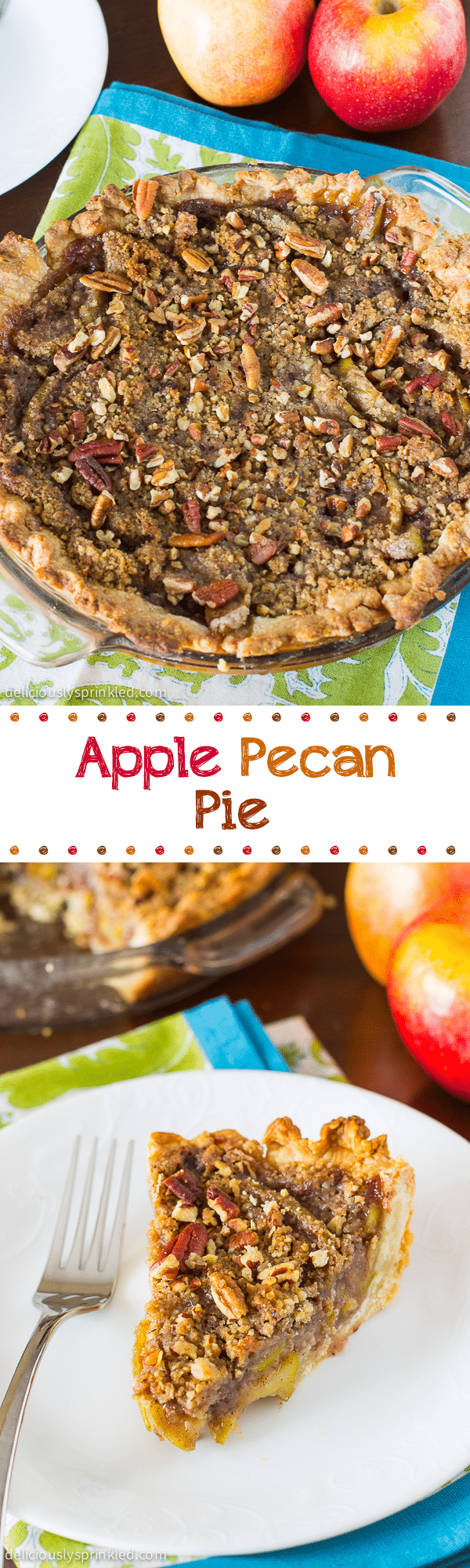 EASY APPLE PECAN PIE RECIPE