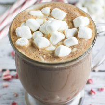 Homemade Peppermint Hot Chocolate Feature