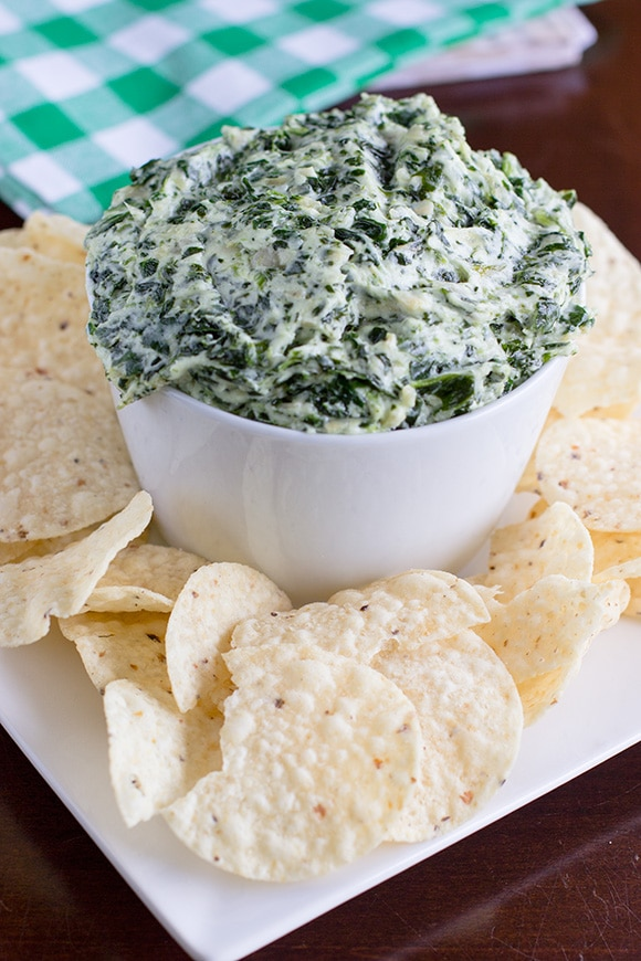 Spinach Artichoke Dip, perfect holiday party appetizer recipe.