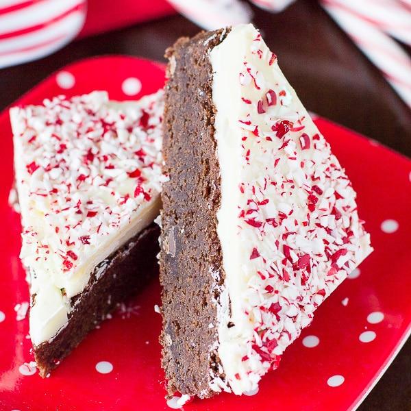 Peppermint Bark Brownies
