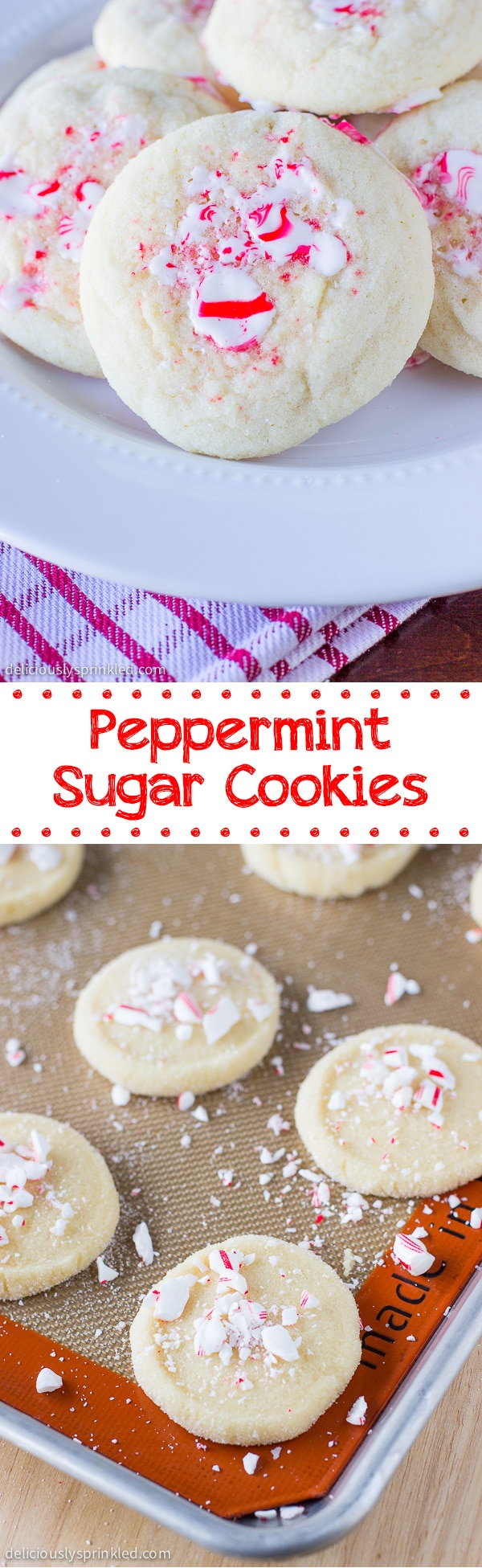 Peppermint Sugar Cookies Deliciously Sprinkled