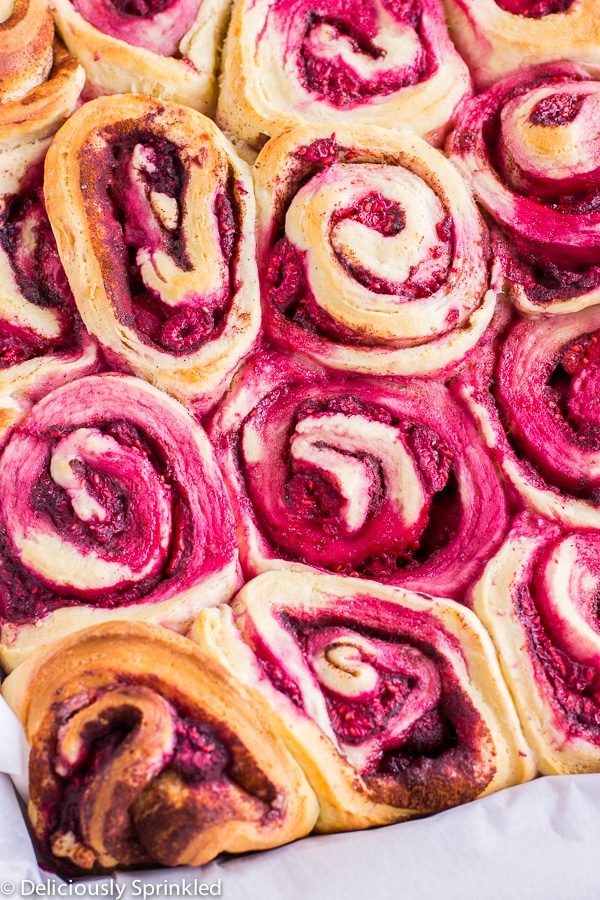 Homemade Raspberry Cinnamon Rolls