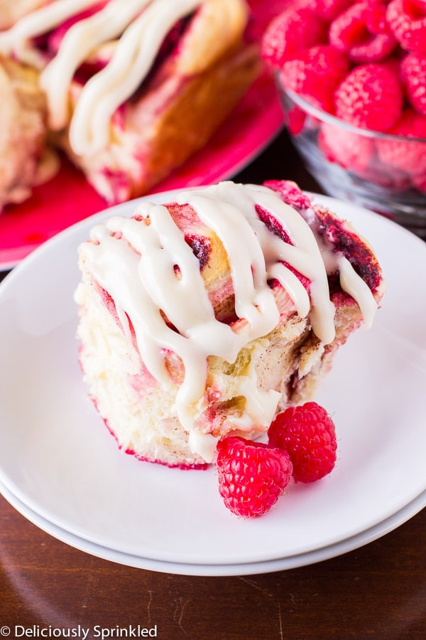 Homemade Raspberry Cinnamon Rolls