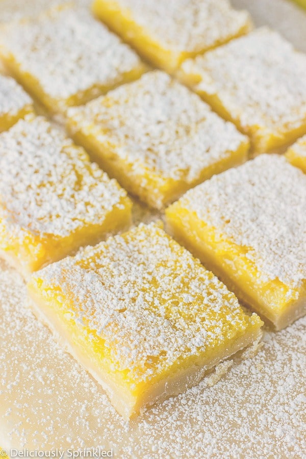Classic Lemon Bars – Deliciously Sprinkled