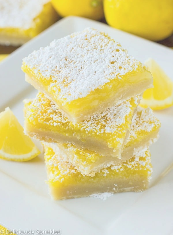 Classic Lemon Bars | Deliciously Sprinkled