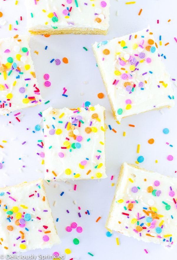 Confetti Sugar Cookie Bars | Deliciously Sprinkled