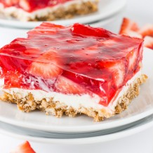 Strawberry Shortcake Bars Deliciously Sprinkled