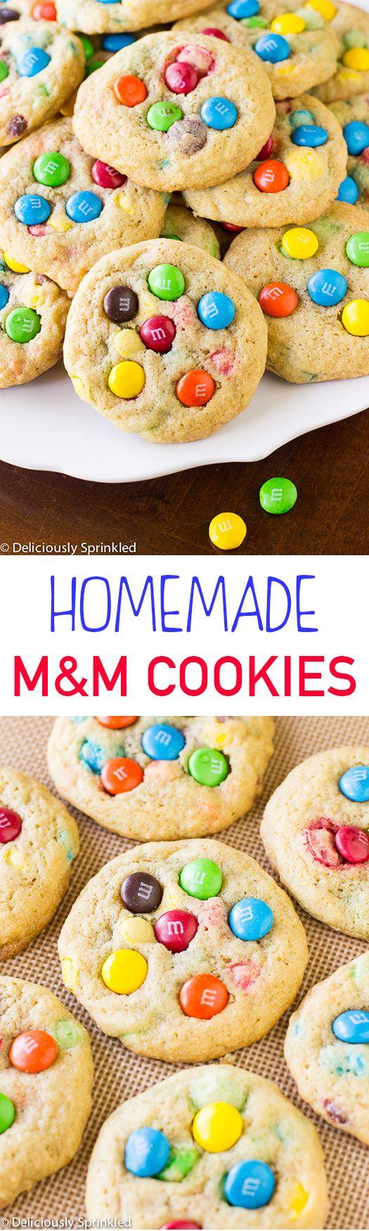 BEST HOMEMADE M&M COOKIES RECIPE