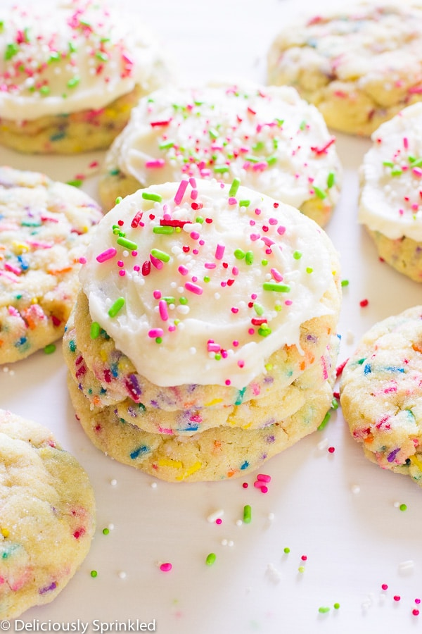 Frosted Funfetti Cookies