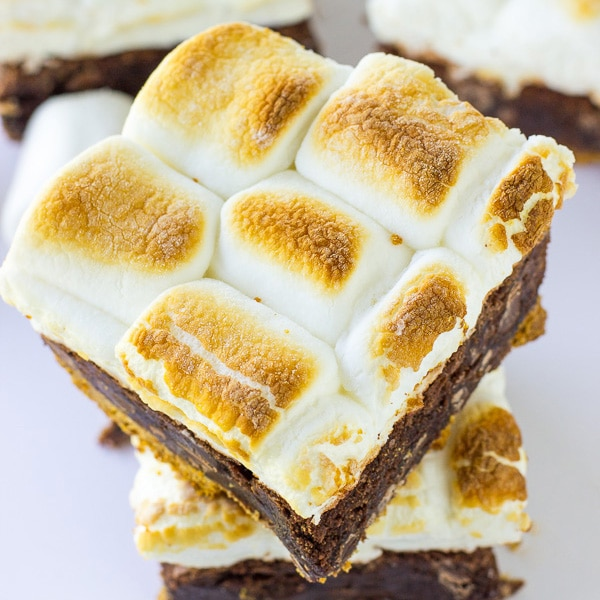 mores Brownie Bars | Deliciously Sprinkled