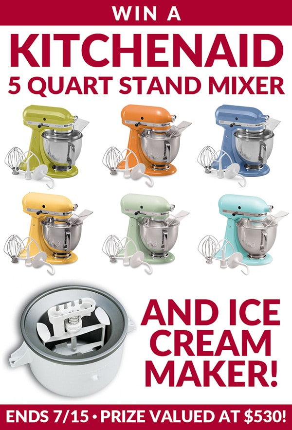 Kitchen Aid Stand Mixer Giveaway