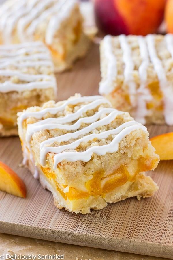 Peaches and Cream Bars Easy Dessert Recipe