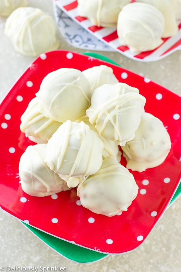 White Chocolate Almond Truffles