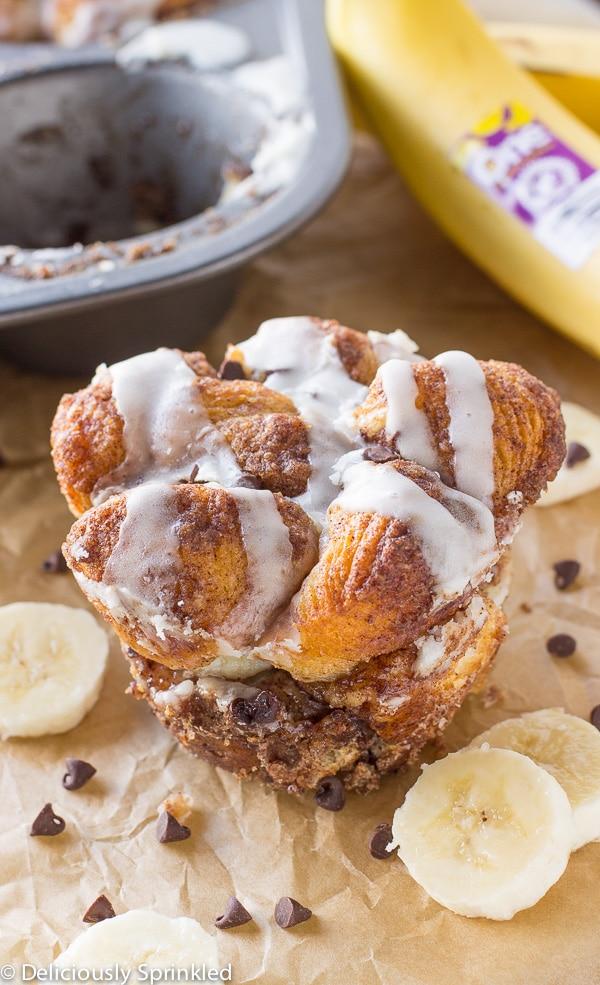 Banana Monkey Bread Muffins