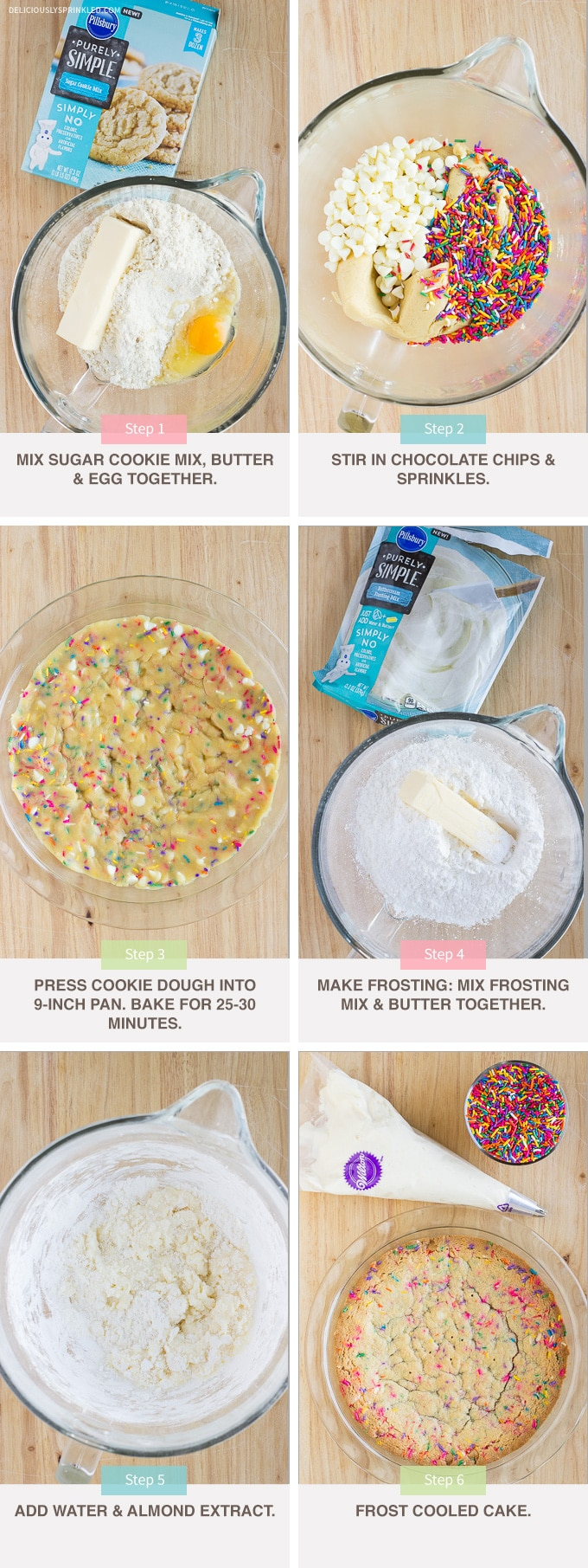 FUNFETTI COOKIE CAKE RECIPE