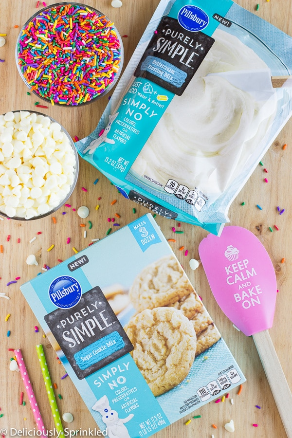 Funfetti Cookie Cake Pillsbury Purely Simple Sugar Cookie Mix